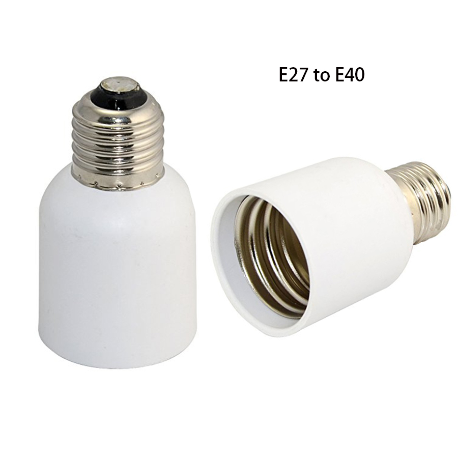 Light Bulb Screw Base: 1pcs Light Bulb Socket E27 to E40 LED Base Screw Lamp Bulb Adapter  Converter White(,Lighting