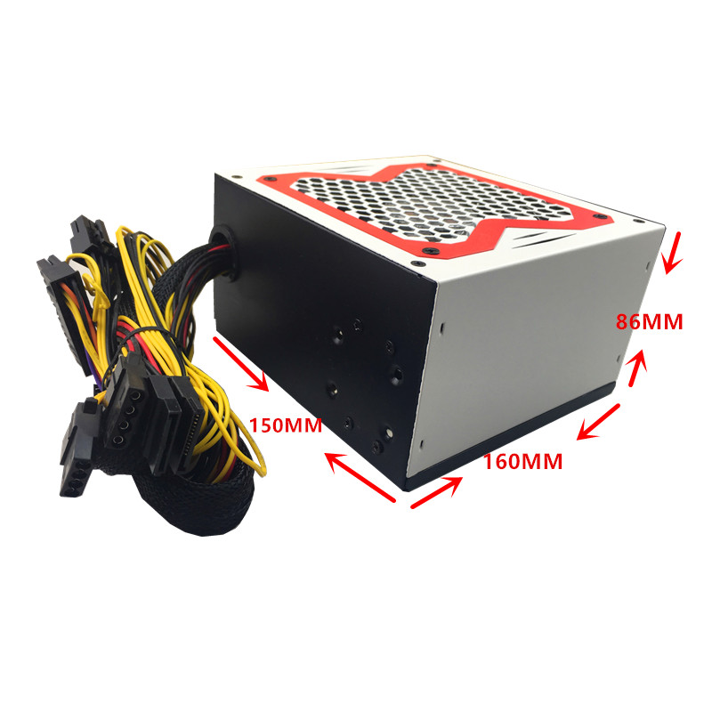 Купить с кэшбэком 12V PSU 600W power supply Desktop 600W ATX PSU 600W PC Power Supply LED Gaming 120MM Fan PC Power computer PSU ATX 24pin SATA