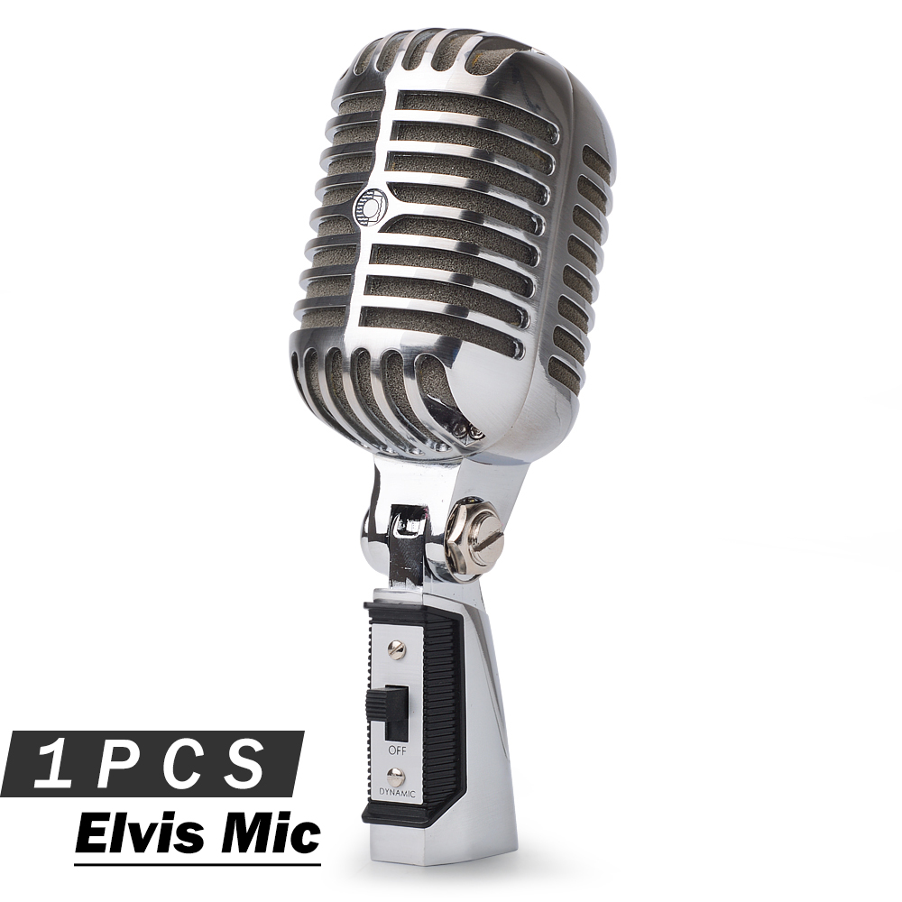 Top Quality Legendary Elvis microphone 55SH Classical Style Vocal Karaoke Handheld Dynamic Recording Microfone Mic 55