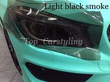 1 рулон/серия Light Black фара Оттенок пленка задняя фары автомобиля тонировка хвост света Копченый оттенок Размер 0.3X10 м/roll protwraps