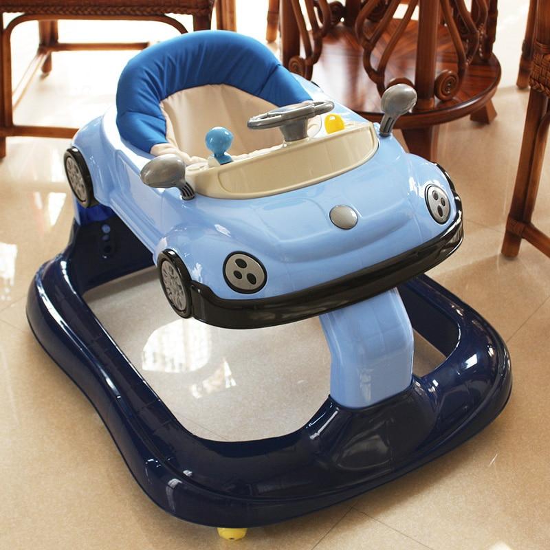 Trotteur bébé multi-fonction Anti-retournement mâle bébé anti-e-jambes garçons et filles général 6-7-18 mois Walker