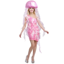 hot party cosplay costume marine life jellyfish dress halloween costume theme performance clothing high quality - Popular Halloween Themes