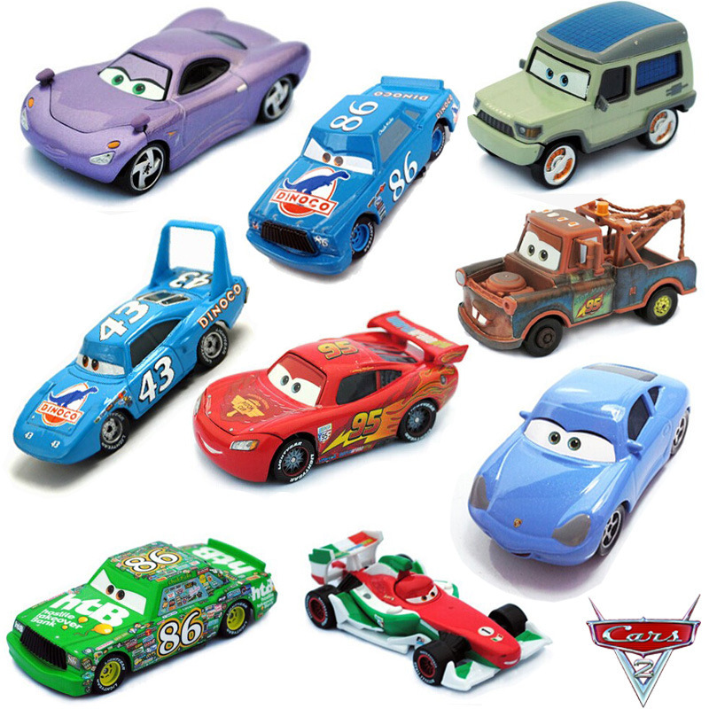 Cars 1 And 2 Toys : Styles pixar cars lightning mcqueen chick hicks mater