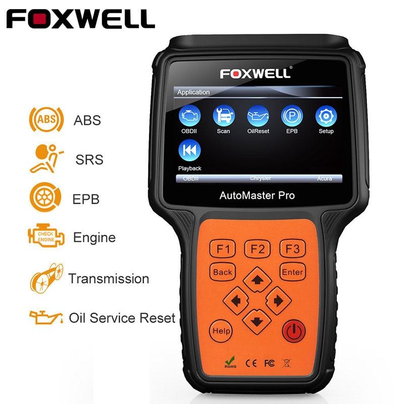 Foxwell NT614 OBD2 Automobile Scanner ABS SRS Airbag EPB Transmission Réinitialisation OBD 2 Auto Scanner Multi Langue ODB2 De Diagnostic