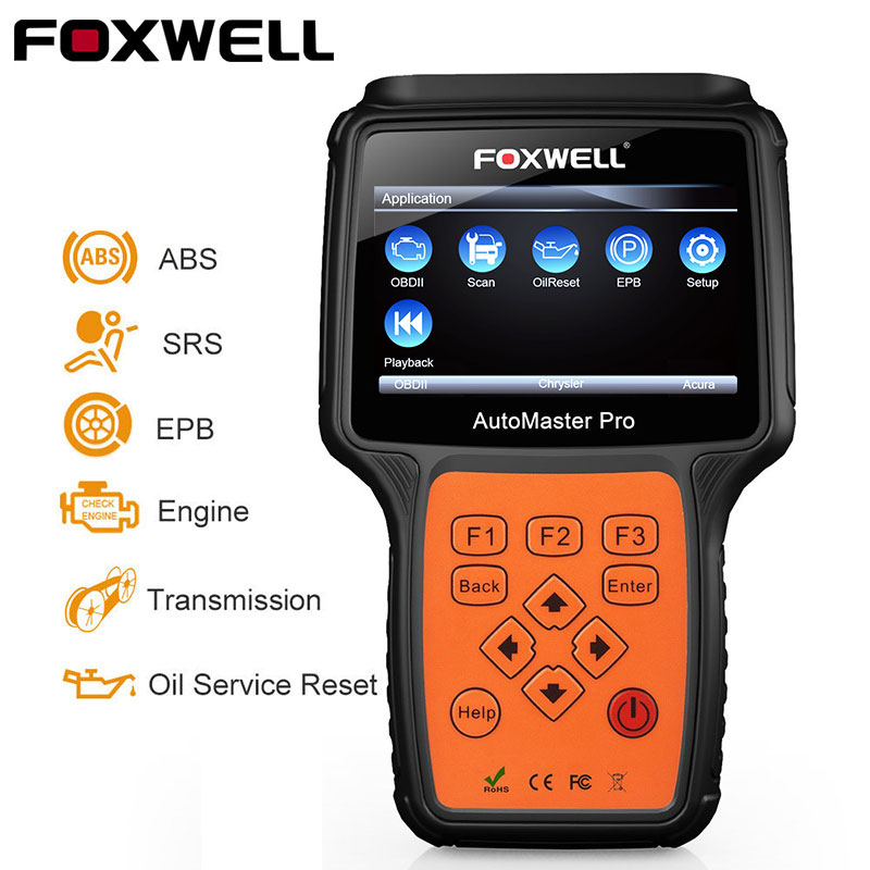 Foxwell NT614 OBD2 Automotive Scanner ABS SRS Airbag EPB Transmission Reset OBD 2 Auto Scanner Multi Language ODB2 Diagnostic foxwell nt630 elite obd2 automotive scanner abs sas airbag crash data reset auto diagnostic scanner odb2 scanner tool