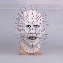 Хэллоуина маски фильм ужасов Hellraiser страшно Pinhead маски Grimace монстр взрослых Косплей реалистичные латекс партии маски это круто P