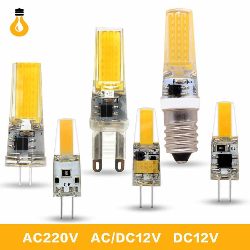 1 ピース/ロットランパーダ LED G4 ランプ 6 ワット 9 ワット AC/DC 12 ボルト 220 ボルト COB E14 LED 電球 G9 照明ハロゲンスポットライトシャンデリア交換してください