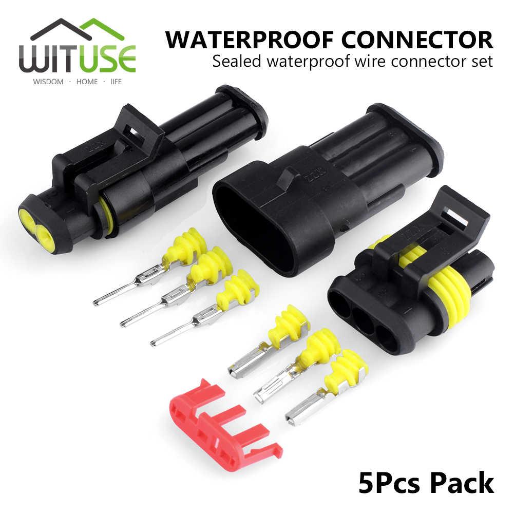 5 комплектов Водонепроницаемый электрический провод разъем 1 2 3 4 5 6 Pins путь Mototcycle Авто герметичный IP68 кабель разъем терминалы