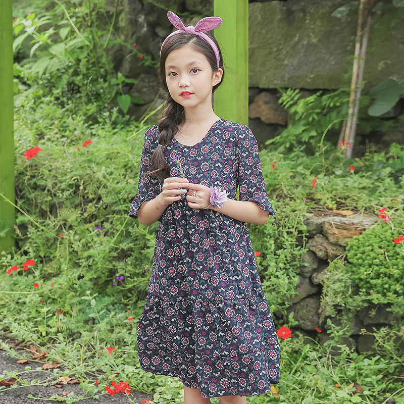 floral print chiffon children clothes baby girl princess dress half sleeve dress for girl kids for summer 2018 dresses clothing 2017 fashion brand domeiland summer children clothing for kids girl short sleeve print floral cotton tee shirts tops clothes