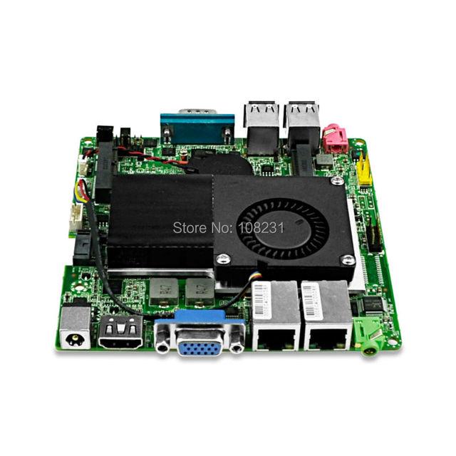 Mini itx placa base de doble núcleo 1037u procesador, apoyo 2G/4G/8G DDR3 RAM y SSD mSATA, también soporte Wi-Fi y Bluetooth