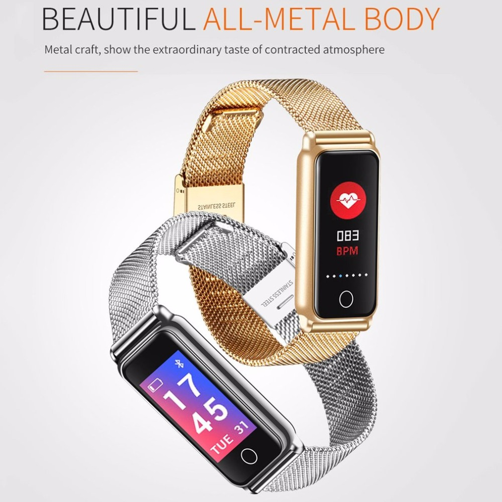 Color Touch Screen Y8 Bluetooth Smart Band Heart Rate Monitor Blood Pressure Oxygen Health Fitness Tracker full metal Wristband