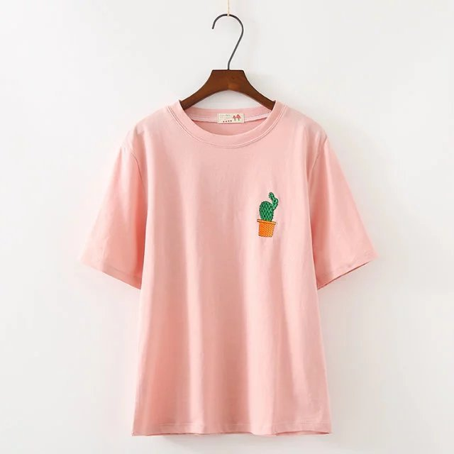 Spring Summer New Style Women Tshirt  Short Sleeve O-Neck Cotton Women T-shirt