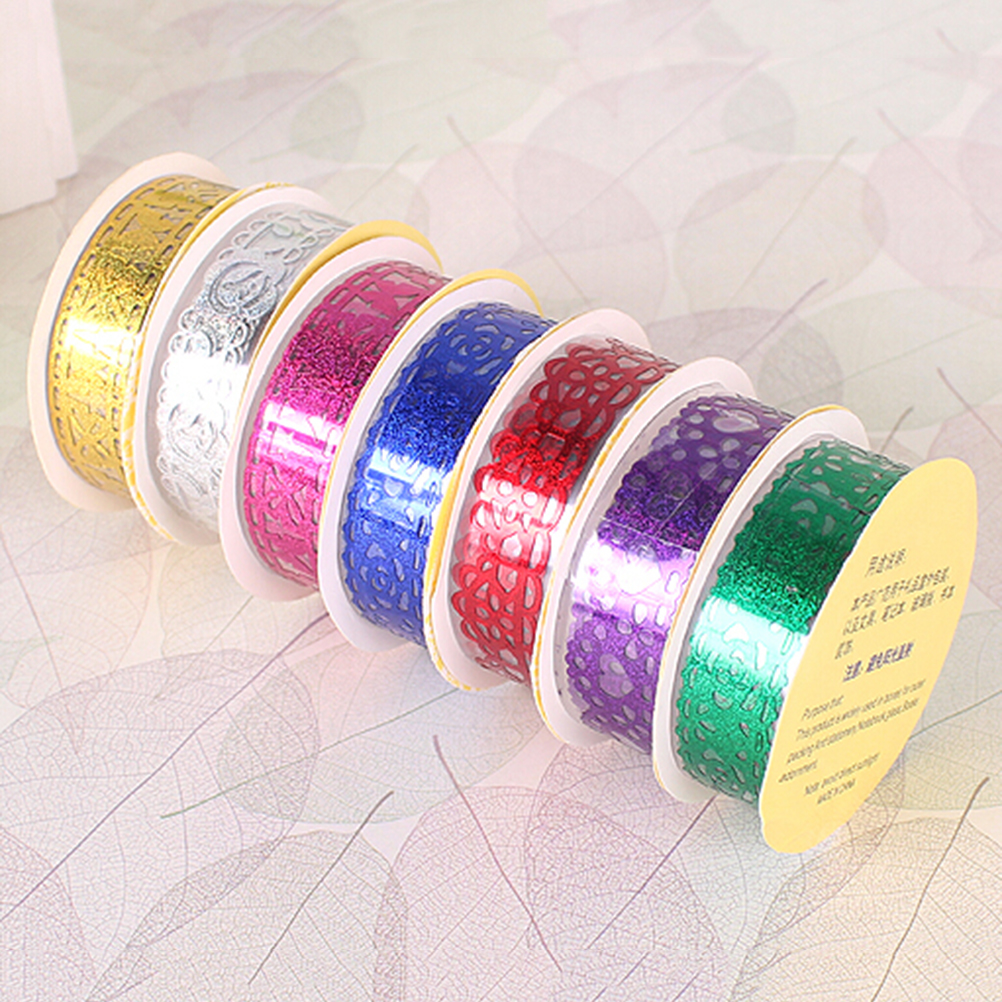 Beautiful Peerless 7 Colors Decorative Hollow Out Transparent Lace Tape Washi Tape Self Adhesive Tape Scrapbook Tape Tapes, Adhesives & Fasteners