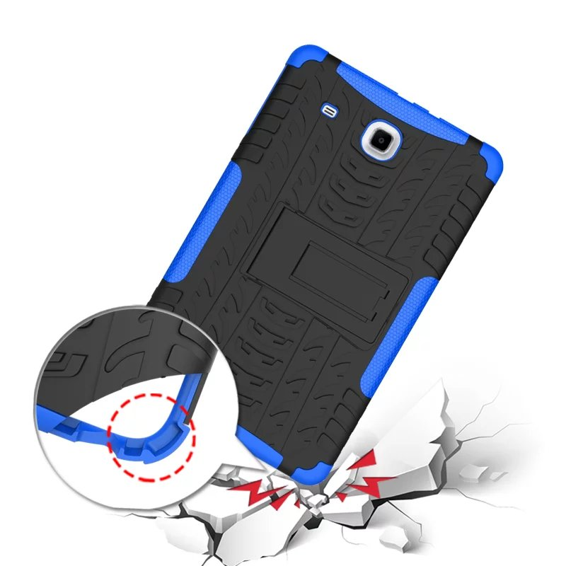 HH Hybrid Heavy Duty TPU Plasic Shockproof Dual Layer Armor Back Cover Case For Samsung Galaxy Tab E 9.6 inch T560 SM-T560 T561