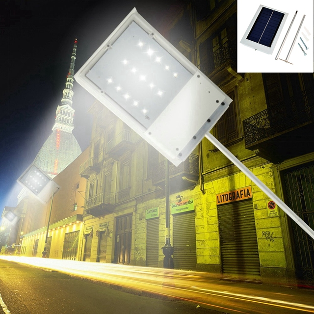 Solar Powered 15 LED Street Light Solar Lamp Sensor Light Outdoor Lighting Garden Path Spot Light Wall Emergency Lamp Luminaria