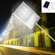 Con energía solar 15 LED Luz de Calle Solar Lámpara de Luz Del Sensor de Iluminación Al Aire Libre Camino de Jardín Luz Del Punto de La Pared Lámpara de Luminaria de Emergencia