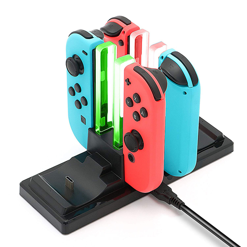 cheapest Controller Charger Dock for NintendoSwitch 6 in 1 Charging Stand Station for Nintend Switch Joy-Con and Pro Controllers