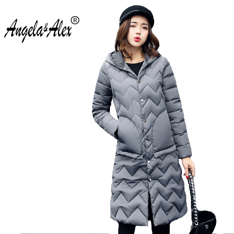Women  Winter Jacket 2017 New Fashion Cotton Coat Female Slim Warm Hooded Parkas Women Overcoat High Quality Long Sleeve Parka 2017 new winter fashion cotton coat female slim warm hooded parkas female overcoat high quality women cotton padded long jacket