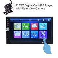 7012B 2 Din Car Stereo Radio Player 7 Inch HD Dash Touch Screen Bluetooth Car Player