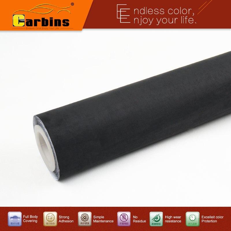 Carbins большую кучу ткани черная клейкая ткань замши пленка для интерьера автомобиля обернуть тканью панели крыши
