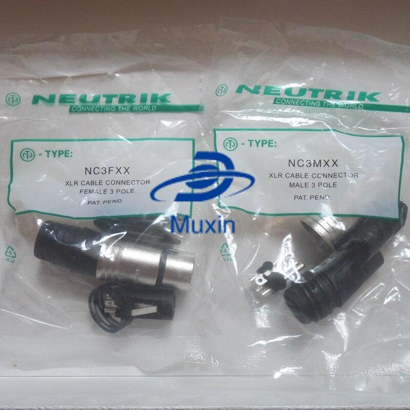original FOR NEUTRIK connector 80PCS 40PCS NC3MXX 40PCS NC3FXX Male et femelle Un ensemble 3 Broches