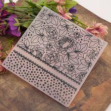 Beautiful Flower Design Sticker Painting Stencil DIY Home Cake Decor Planner Scrapbooking Album Crafts Arts Template Decoration