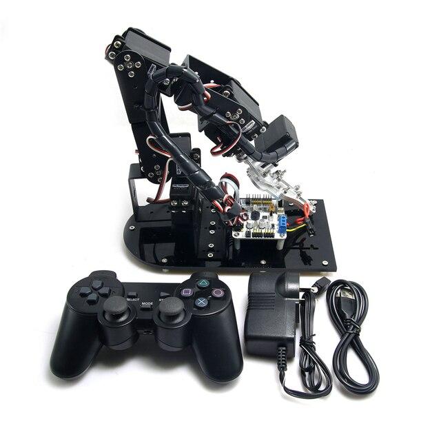 Собранный 6DOF Механическая Робот 3D Поворотный Рычаг Полный Металлическая Конструкция Кронштейна и LD-1501 Servo & Контроллер для Diy Arduino