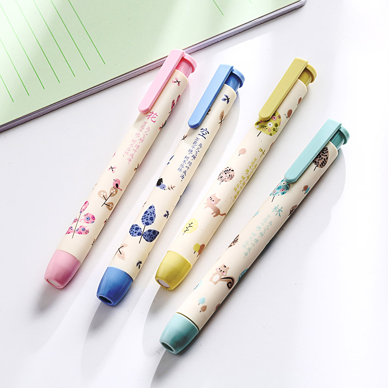 4 pcs/lot Kawaii Flower Pencil Erasers Cute Cartoon Automatic Rubbers For Painting Drawing Korean Stationery Student 4201