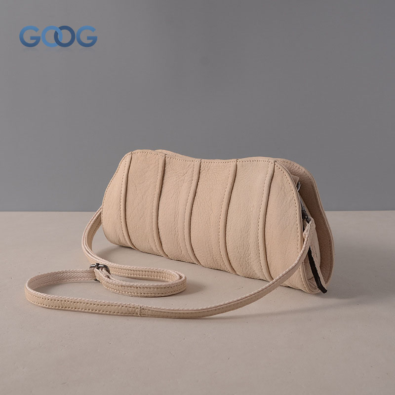 New fashion oval hand bag head layer cowhide retro frosted personality handbags leather stitching multi-color shoulder Messenger the new retro hand brush color bag head layer leather casual bag messenger bags wholesale