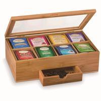 Portable solid wood storage box coffee storage box tea storage box bamboo storage box