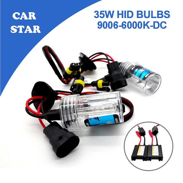 Free Shipping 9006 Xenon HID Kit 35W 6000K With Slim DC Ballast Car Light Source Waterproof High Quality For Renault Toyota