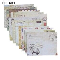 12 шт./лот 12 видов конструкций бумажный конверт милые мини конверты винтажный европейский стиль для скрапбукинга карты подарок Бесплатная д...