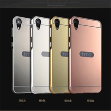 Mirror Case For HTC Desire 828 Back Cover & Aluminum Metal Frame Set Hot Phone Bag Housing Fundas 5.0