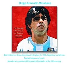 ФОТО figure oil paintings football sports star diego armando maradona  decorative pictures hand painted personality canvas wall art