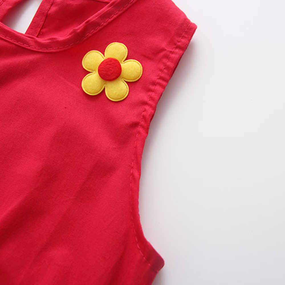 Модное платье из чистого хлопка с цветочным узором для девочек, платье принцессы