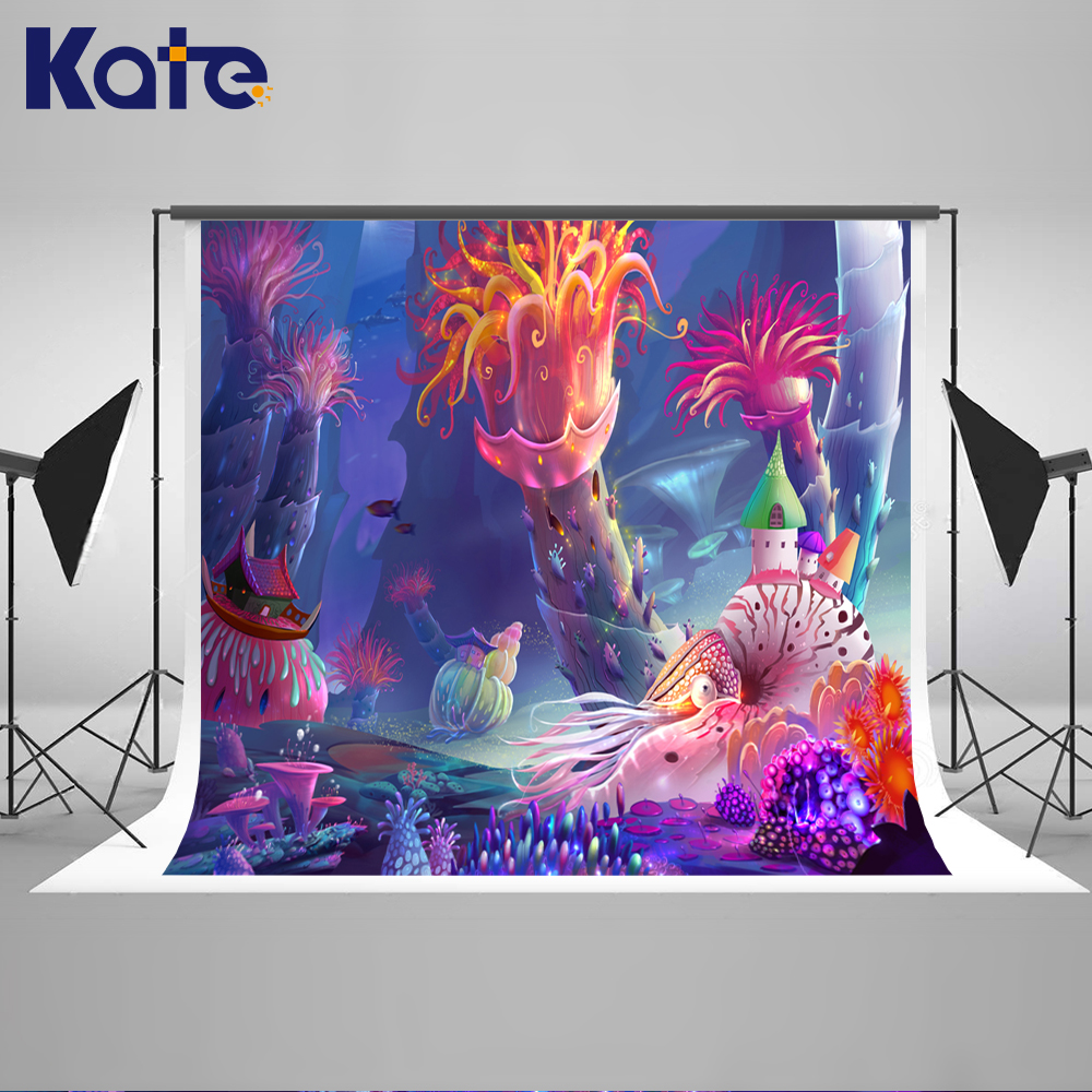 ФОТО Kate Newborn Photography Background Underwater World Fairy Tale World Backdrops For Photography Studio
