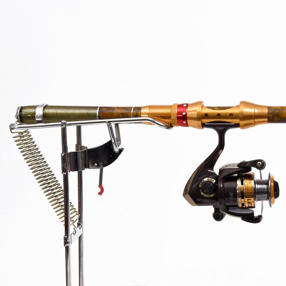 Automatische Doppel Frühling Winkel Fisch Pole Angelgerät Halterung Angeln Halterung Rutenhalter Anti-rost-stahlstapler Werkzeuge 0,59 0,69 cm