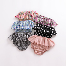 2020 Summer Fashion Lotus Baby Girls Short Pants 100 Cotton Baby Girls Diaper Pant Toddler Girls Dress Baby Summer Clothings cheap ROMIRUS Shorts Fits true to size take your normal size Solid Unisex
