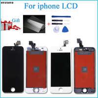 Venta de fábrica AAA calidad pantalla para iPhone 5 y 5s 5C SE 5SE pantalla LCD y digitalizador pantalla táctil de reemplazo añadir gratis a