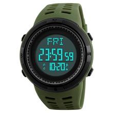 Podómetro Skmei hombres Relojes Deportivos Hombres Reloj Hombre Militar Digital LED electrónico Impermeable Reloj Masculino Del Relogio masculino