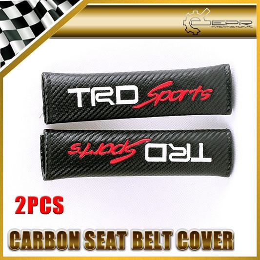 Cubierta Del Cinturón de seguridad Universal JDM Car-styling de Carbono Para Toyota TRDsport