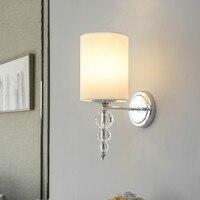 Nordic Современная мода вилла двери свет кованого железа бра теплый спальня прикроватные бра AP8231436