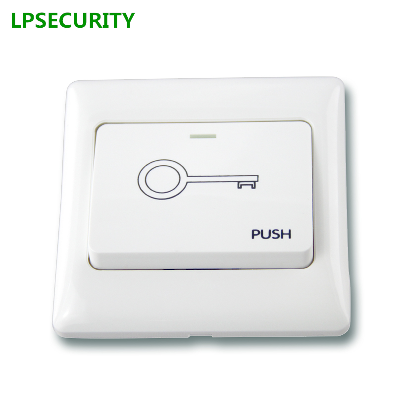 LPSECURITY 5pcs NO/NC Exit Button Exit Switch For Door lock Access Control System Door Push Exit Door Release Button Switch бокс оптический настенный цмо 1 дверь 1 замок до 16 портов бон н 16