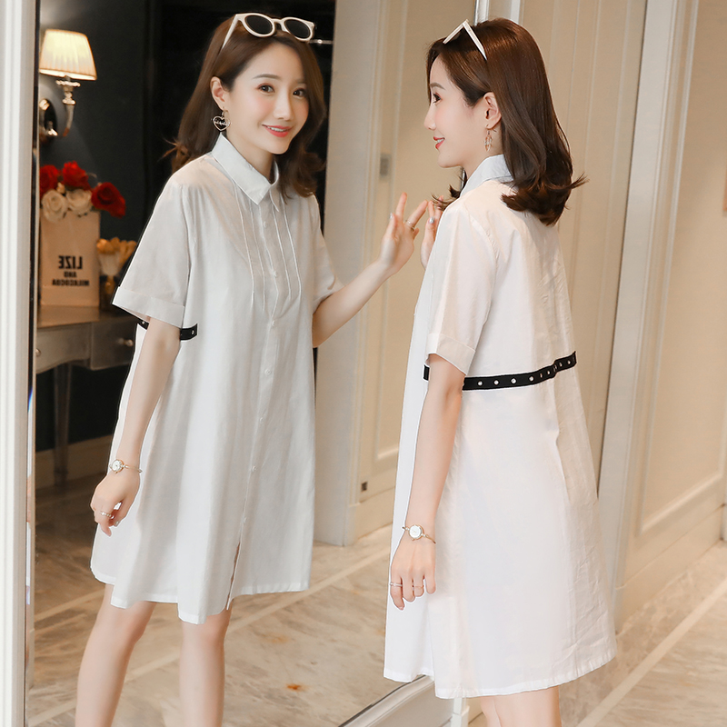 8217 Summer Fashion White Cotton Maternity Blouses A Line Loose Tunic Clothes For Pregnant Women Ol Formal Work Pregnancy Tops Buy At The Price Of 16 88 In Aliexpress Com Imall Com