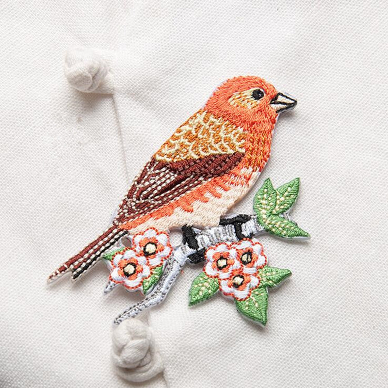 1 Piece κέντημα πτηνών patch για ρούχα - Τέχνες, βιοτεχνίες και ράψιμο - Φωτογραφία 4
