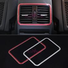 Para Mercedes Benz GLA Conditonnal CLA Classe A B de Ar Traseira Tampa Do respiradouro Guarnição moldura Do Painel de Tomada de CORRENTE ALTERNADA Cromo Styling Acessórios Do Carro