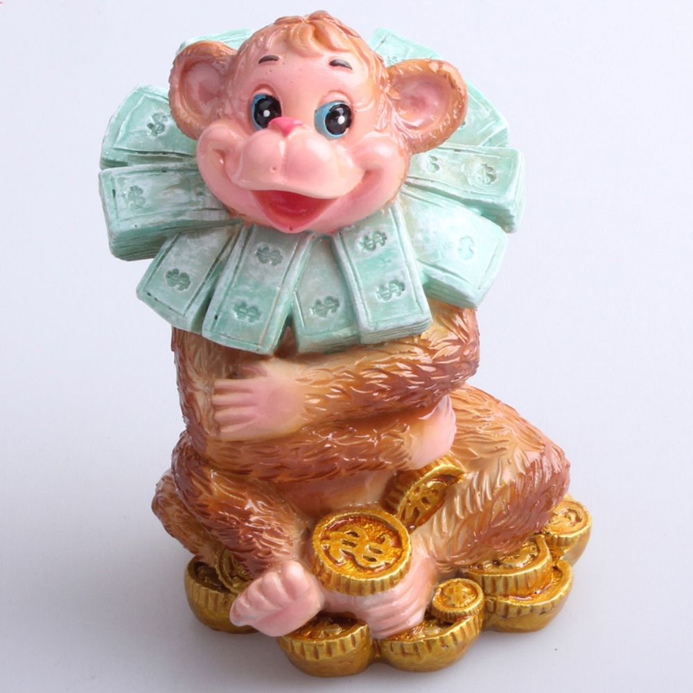 Good Lucky Monkey Pryskyřice Socha Socha Dekorace Socha 2016 Nový - Dekorace interiéru