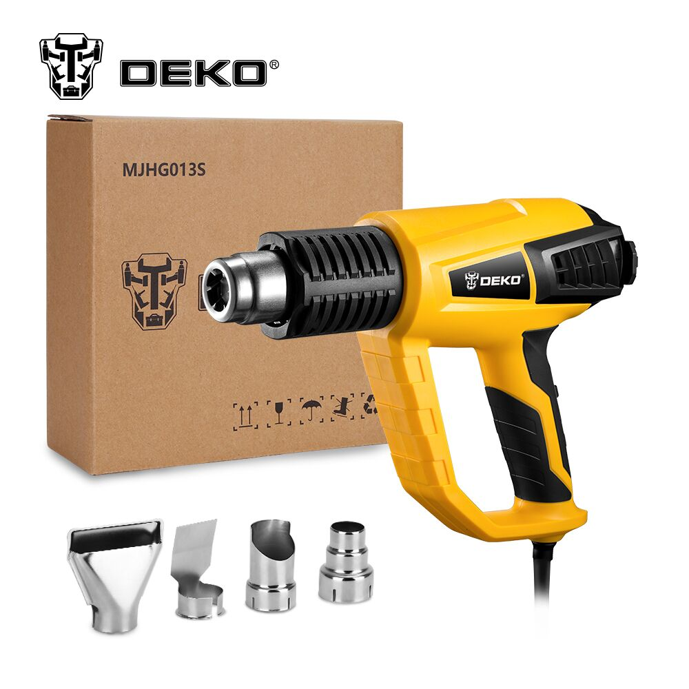 DEKO New Hot 220V Heat Gun 2000W Variable Temperature Advanced Electric Hot Air Gun with Four Nozzle Attachments Power Tool heat gun 2000w 220v temperature adjustable temperature industrial electric hot air gun