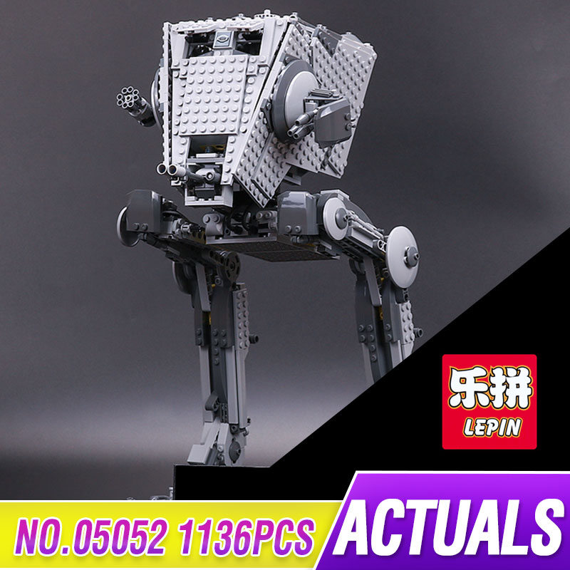 Lepin 05052 1136pcs Star Kit War Out of print AT Model ST Building Blocks Bricks Model Funny Toys for childrenGifts legoed 10174 lepin 05035 star wars death star limited edition model building kit millenniums blocks puzzle compatible legoed 75159