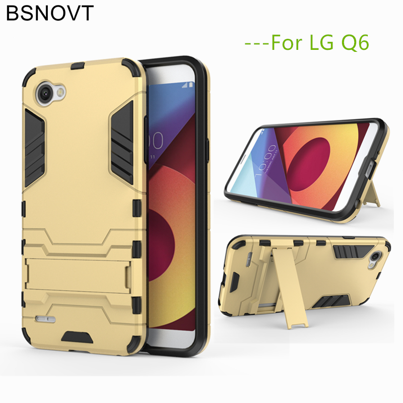 BSNOVT sFor Phone Case LG Q6 Cover Silicone Light Plastic For Q6A M700 Kickstand Bumper 5.5